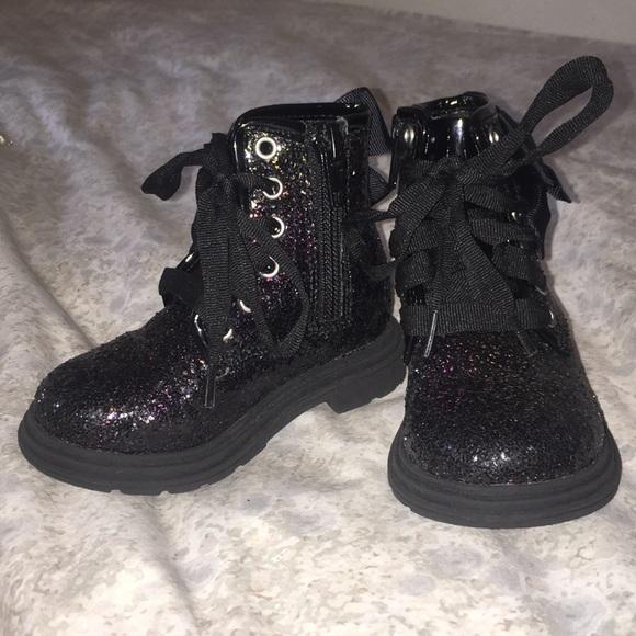 Sparkly Black Toddler Boots Jojo Siwa